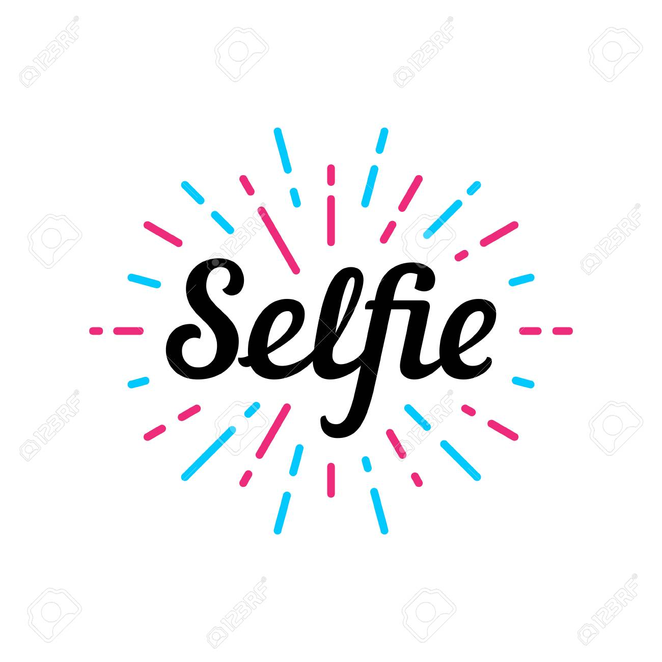 selfie logo design template vector color illustration selfie