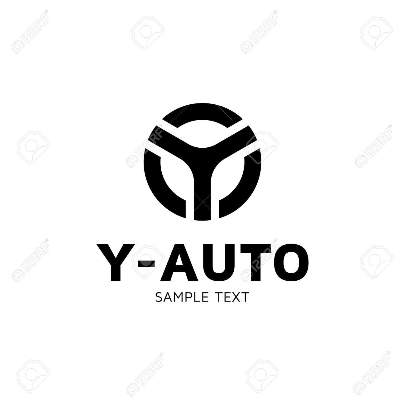 Y Auto Car Wheel Logo Design Template Vector Letter Y Circle Royalty Free Cliparts Vectors And Stock Illustration Image 104616529