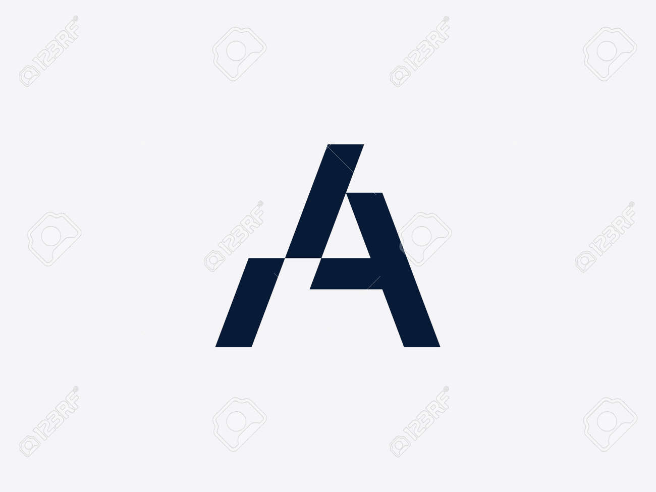 letter a design template alphabet label for branding and identity