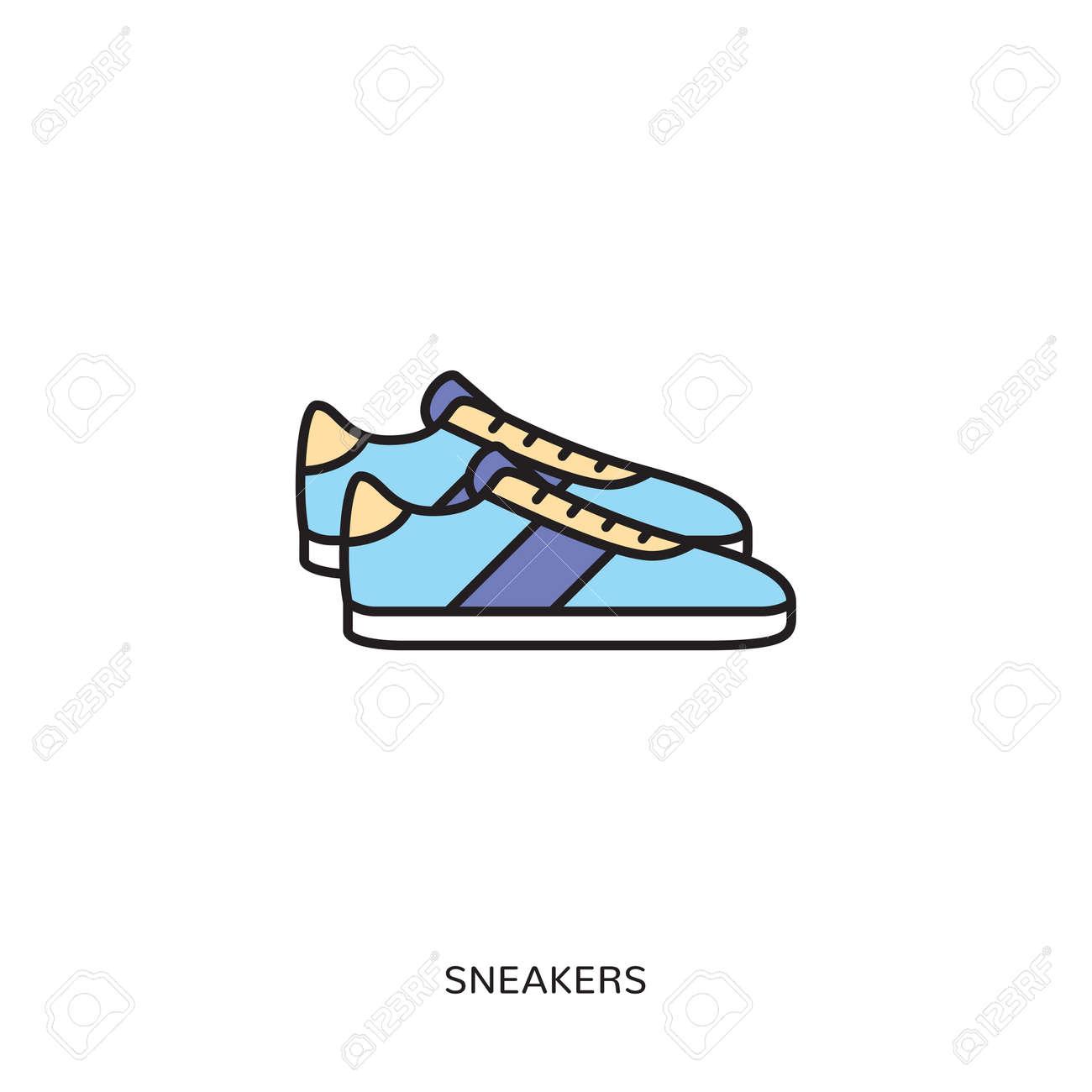 Sneaker Icon Design Template Stock Vector