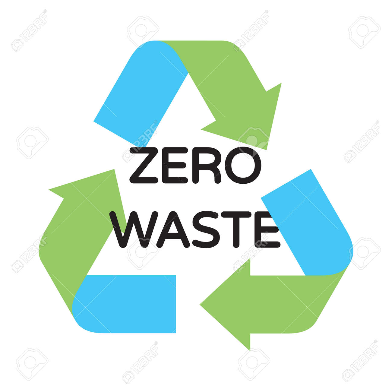 vector zero waste logo design template arrow recycle sign poster