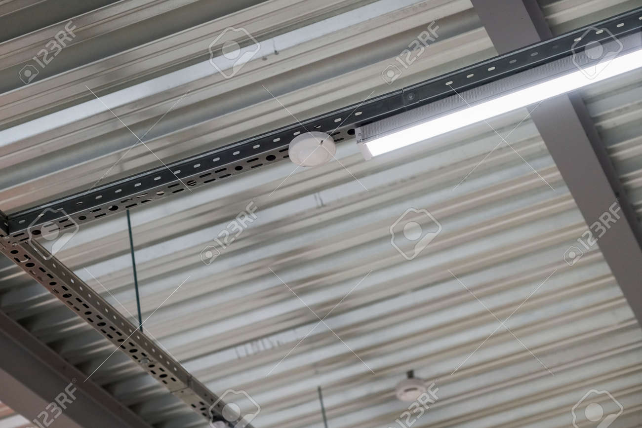 installation of lighting fixtures suspended ceiling and Lighting