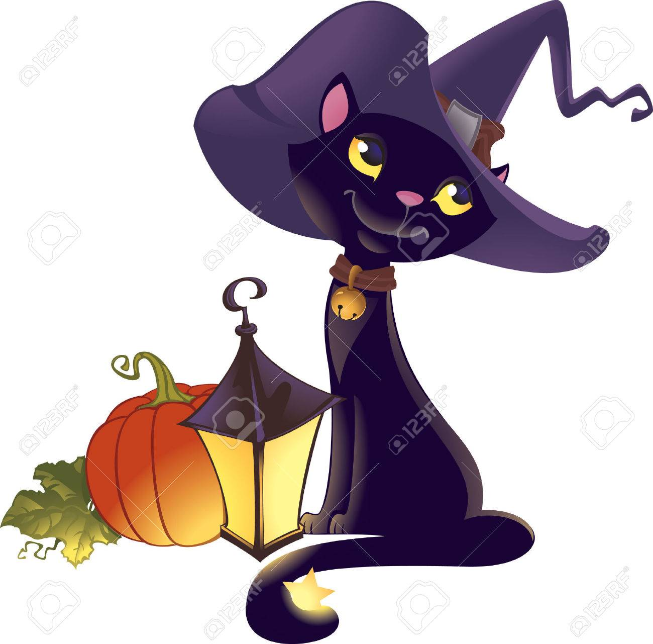 Halloween kitten with pumpkin - 7573367