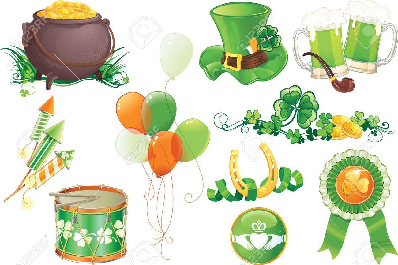 Set contains symbols of St.Patrick's Day Stock Vector - 8790101