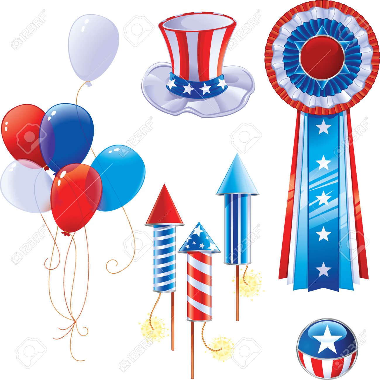 Fourth of July symbols - 8912627