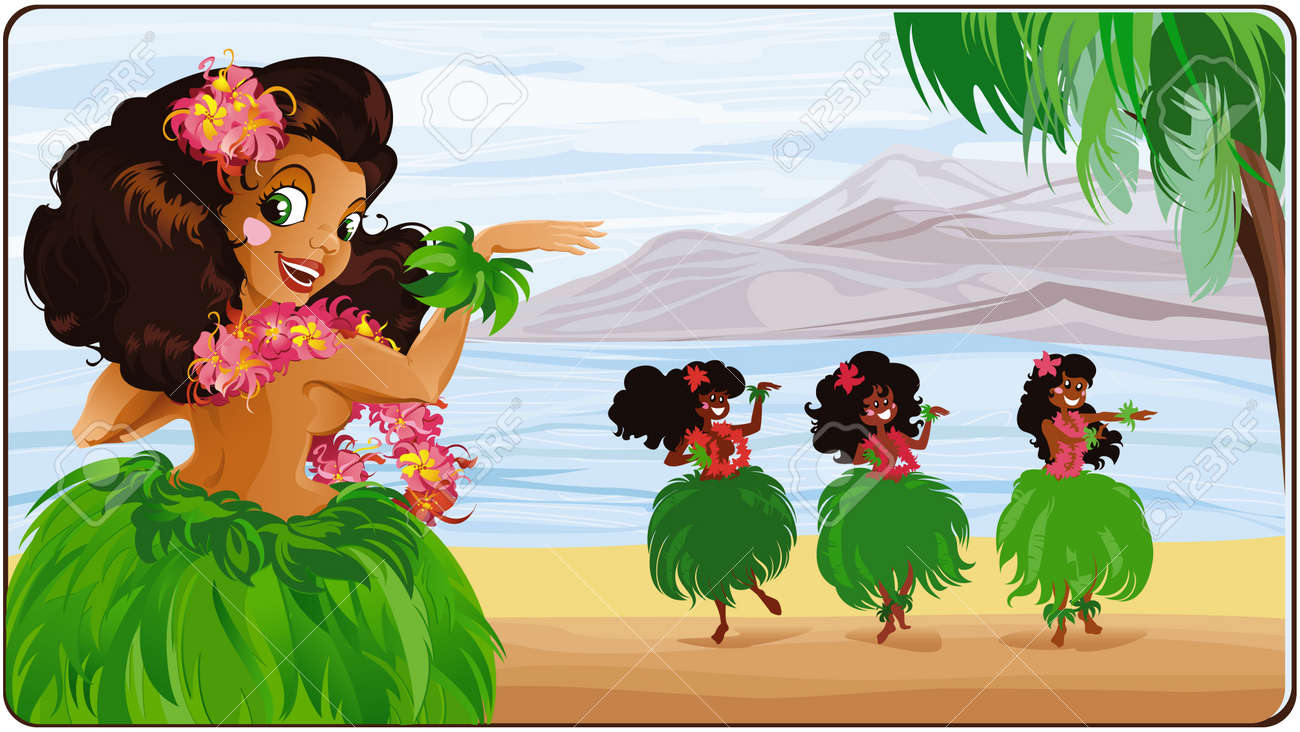 Hula dancer in Hawaii. - 8912606