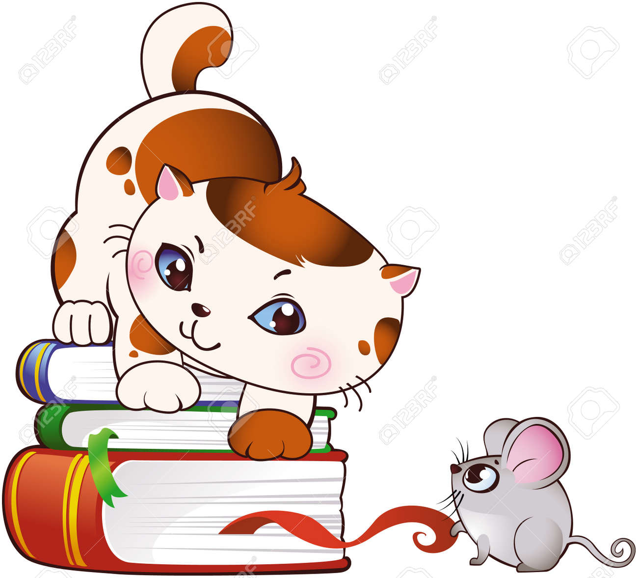 Kitten and mouse Stock Vector - 8912592