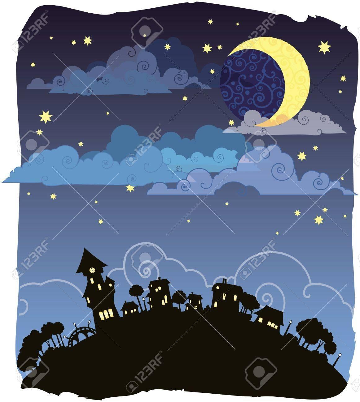 Moonlit night - 8912612