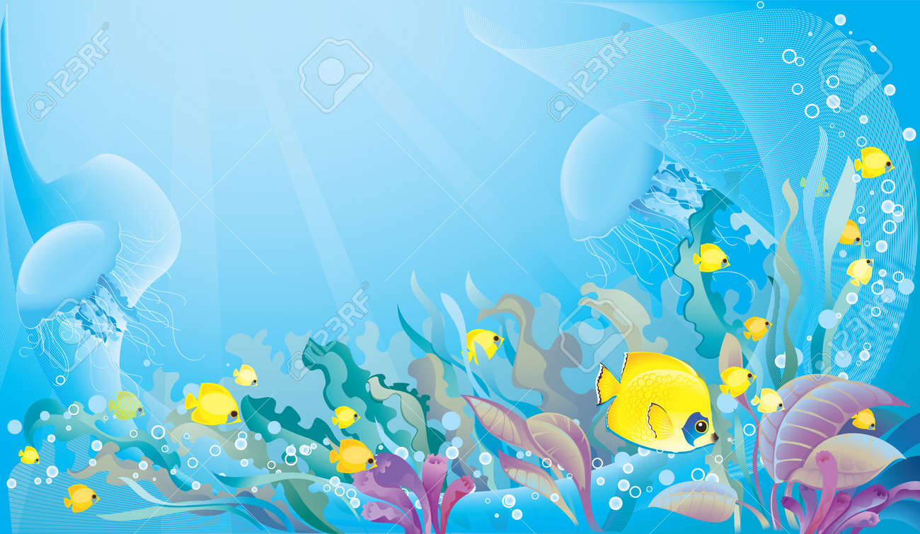 Tropical sea background with copyspace - 8912643