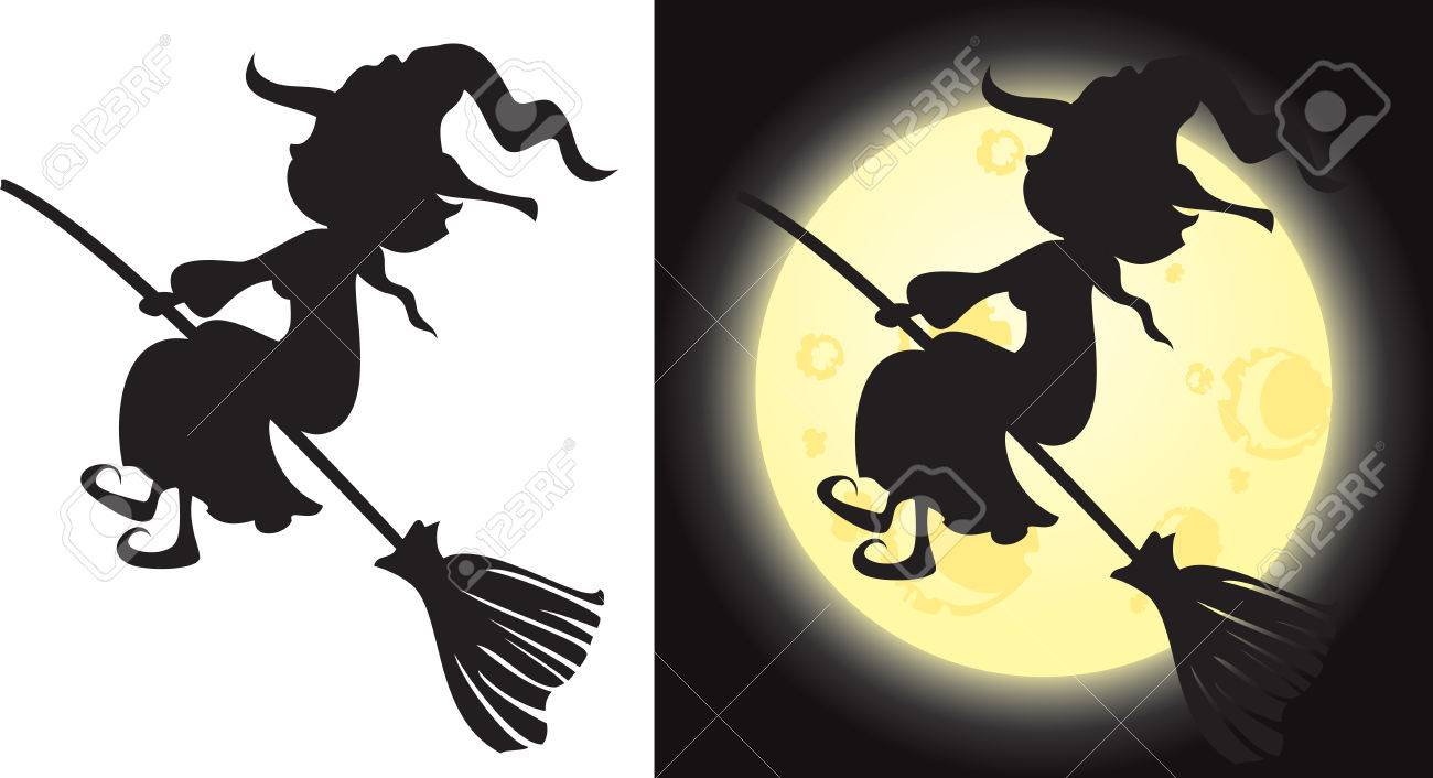 Witch's silhouette - Halloween character - 44289391