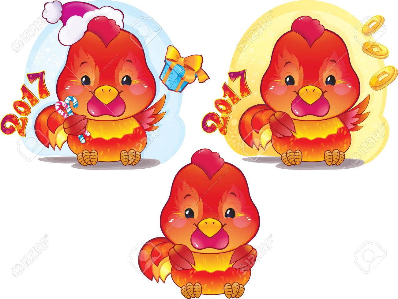 Cute Red Fire Rooster For The Chinese New Year The Red Fire