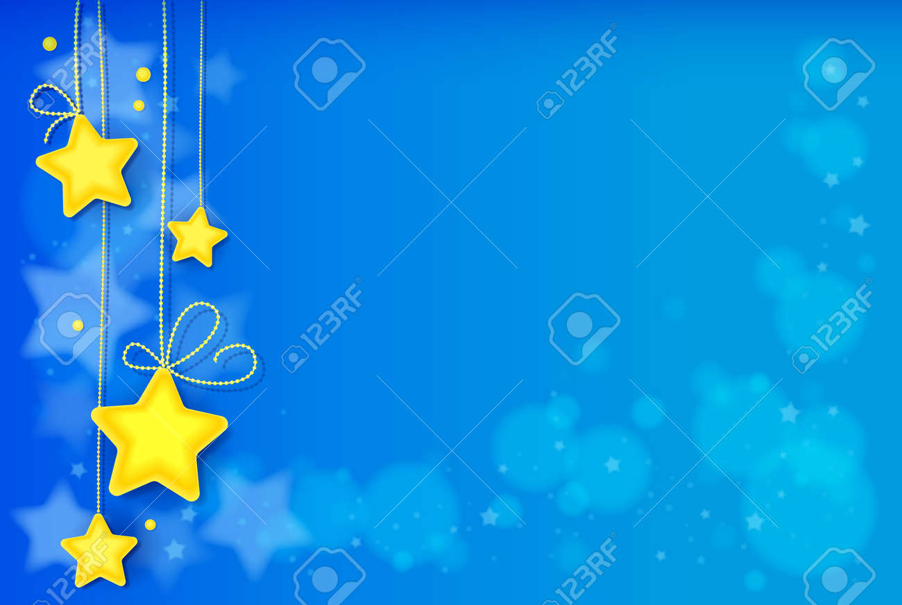 Magic Stars Abstract Background, Shiny Light Effect Background. Image contains gradients, transparencies, blends, blending modes, gradient meshes. EPS 10 - 97057037