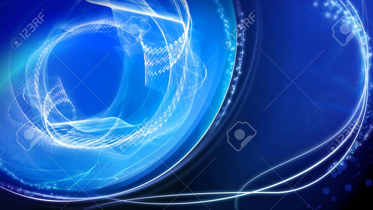 Shiny blue light effect background, abstract illustration. template for web banner, business or technology presentation, background or elements. - 135920371