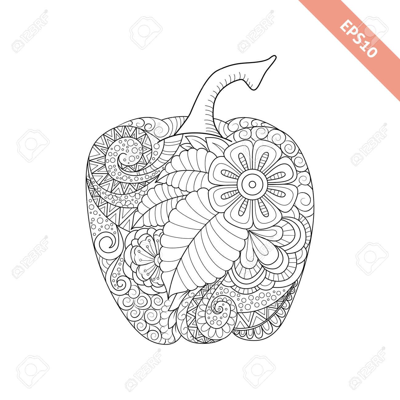 Coloriage Paprika Dessin Anime.Vector Illustration Cloche Dessin Anime Poivre Avec L Ornement