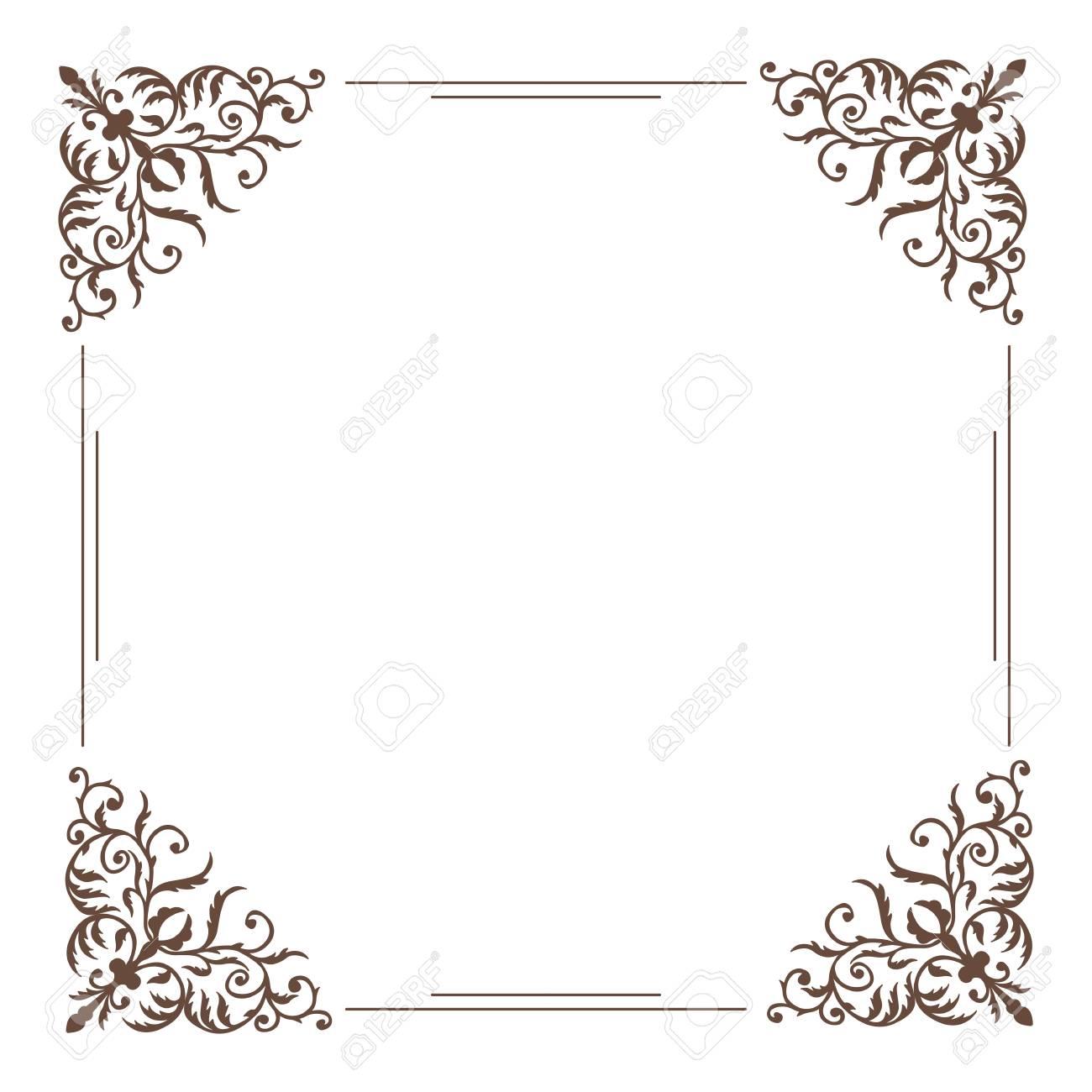 d4af53c03567 Decorative square frame vintage style Stock Vector - 62066468