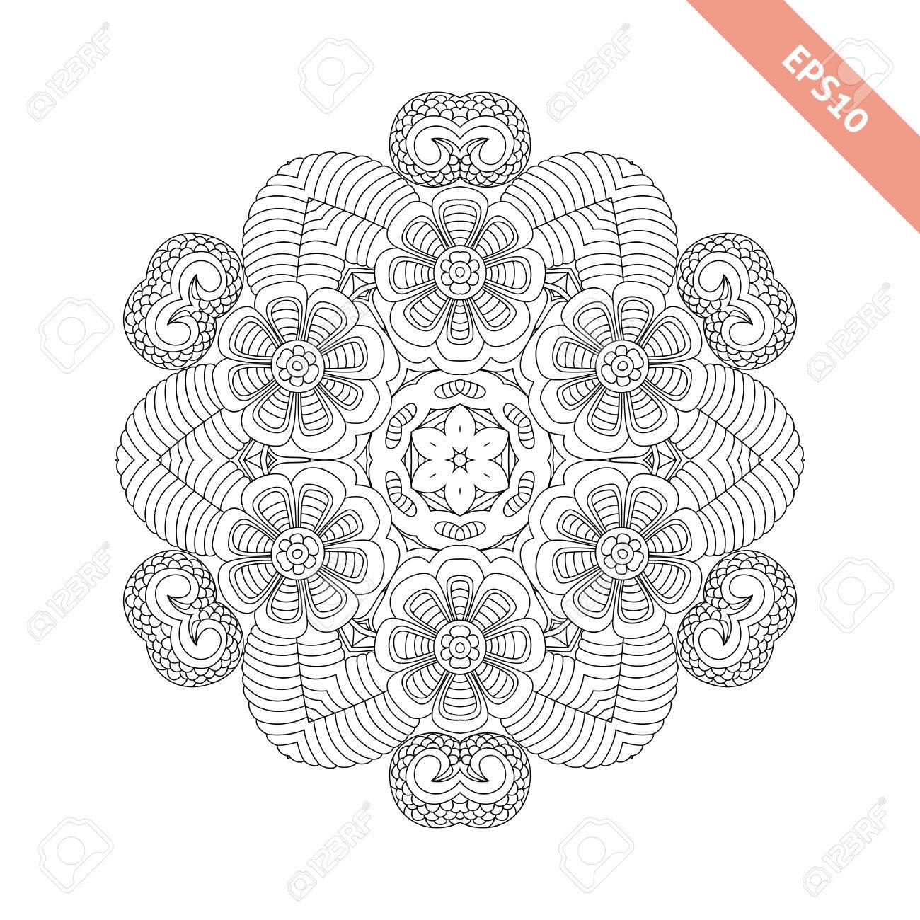 Excelente Diseño Complejo Para Colorear Bosquejo - Dibujos Para ...