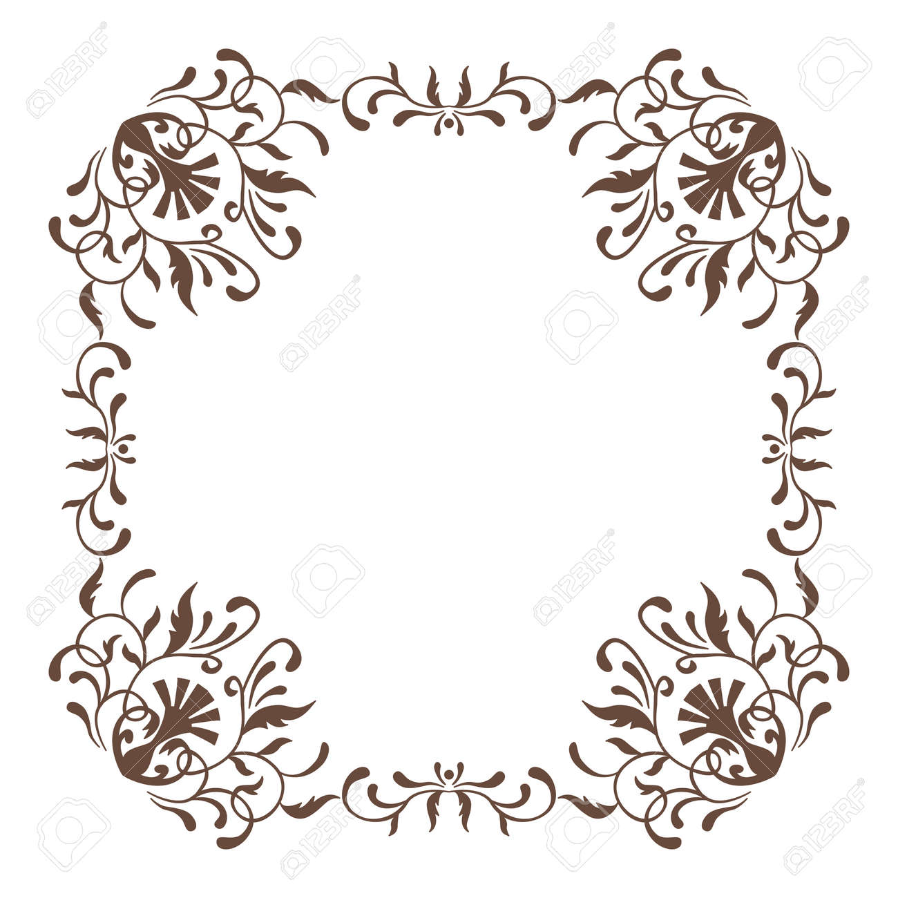 4c165e5718f9 Decorative Square Frame Vintage Style For Greeting