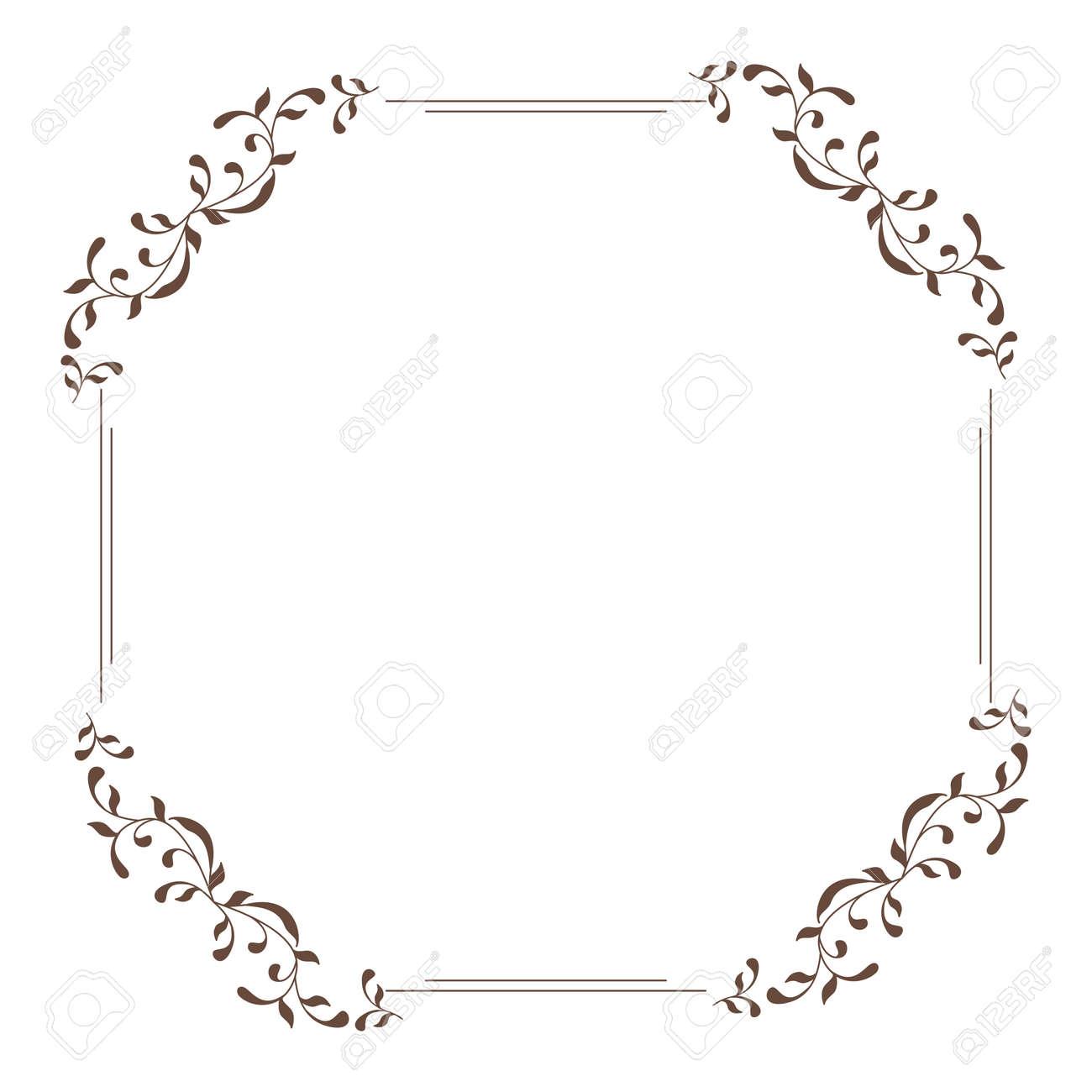 Dekorativer Quadratischer Rahmen Vintage-Stil Für Gruß, Einladung ...
