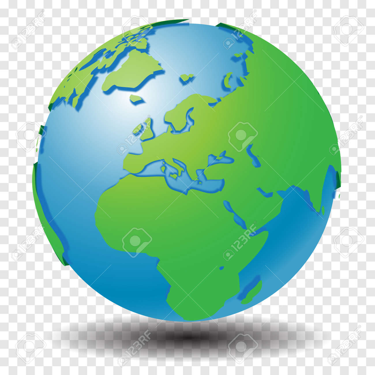 Globe With World Map Show Middle East And Europe Region With