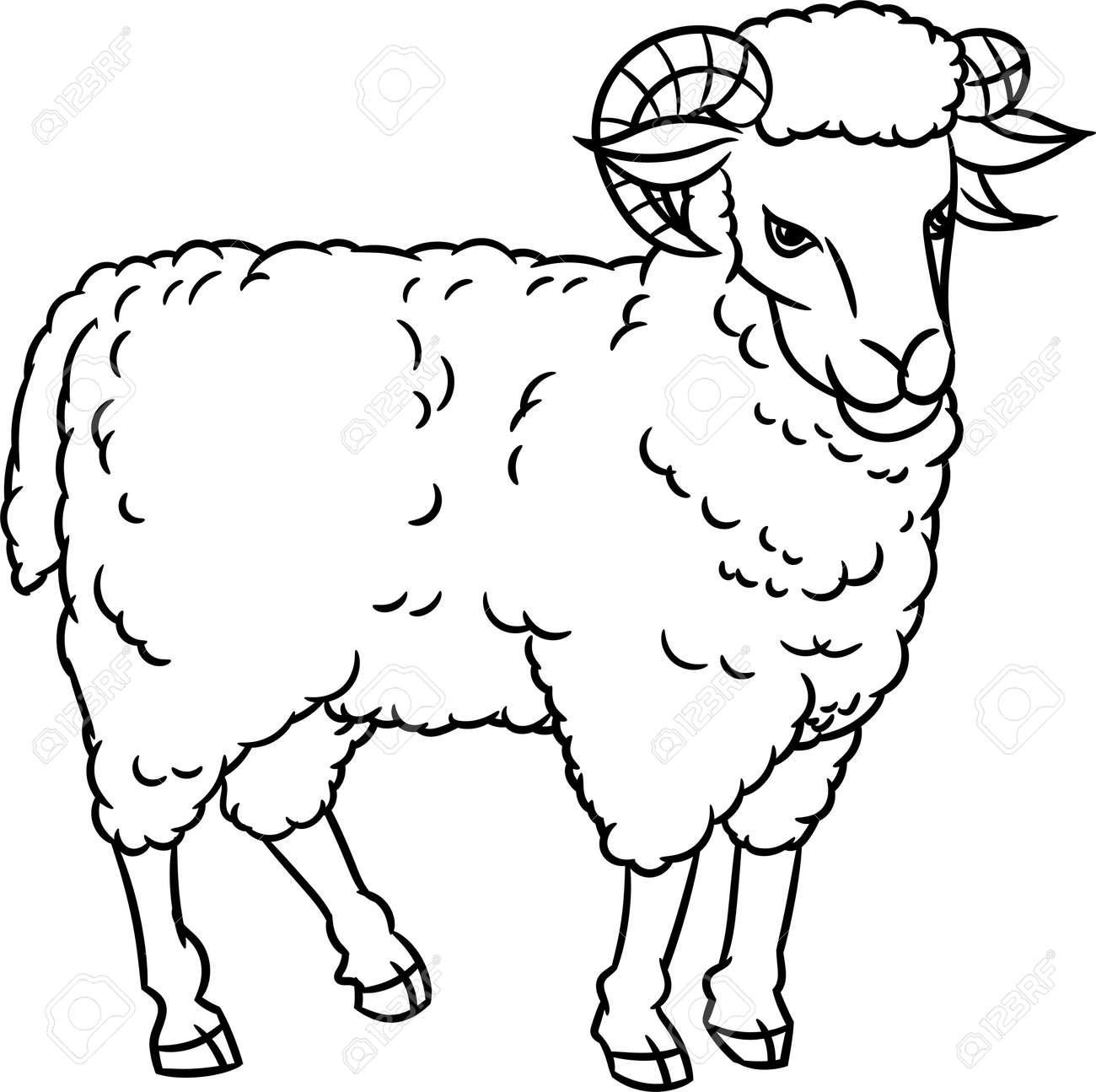 Image of: Cartoon Hand Drawing Sheep Farm Animals Set Sketch Graphic Style Stock Vector 84215769 123rfcom Hand Drawing Sheep Farm Animals Set Sketch Graphic Style Royalty