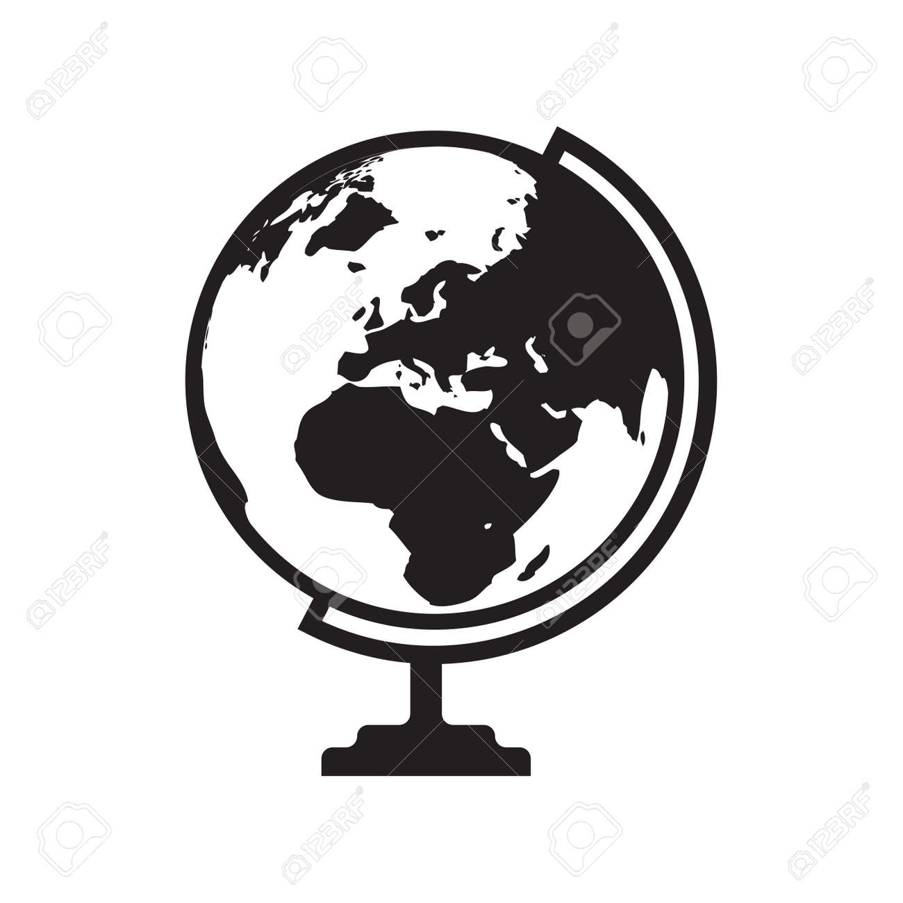 Flat world map vector picture ideas references flat world map vector globe icon vector with asia africa and europe map flat icon isolated gumiabroncs Choice Image