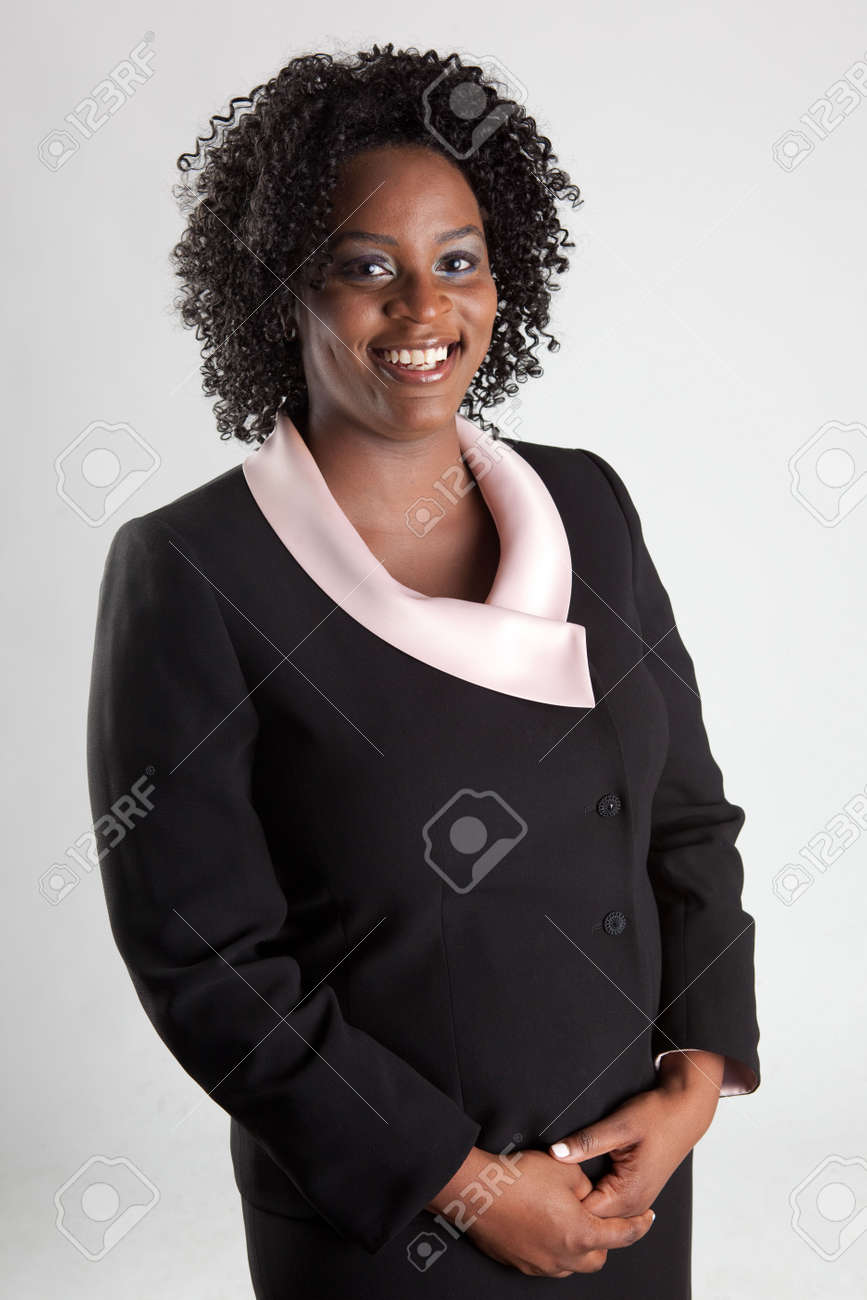 Smiling and happy african american business woman Stock Photo - 7560176