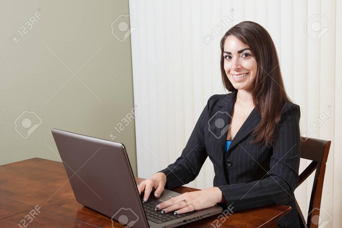 Smiling businesswoman ready to work Stock Photo - 13547670