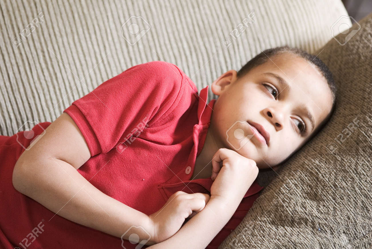young boy with intense look on his face Stock Photo - 13644004