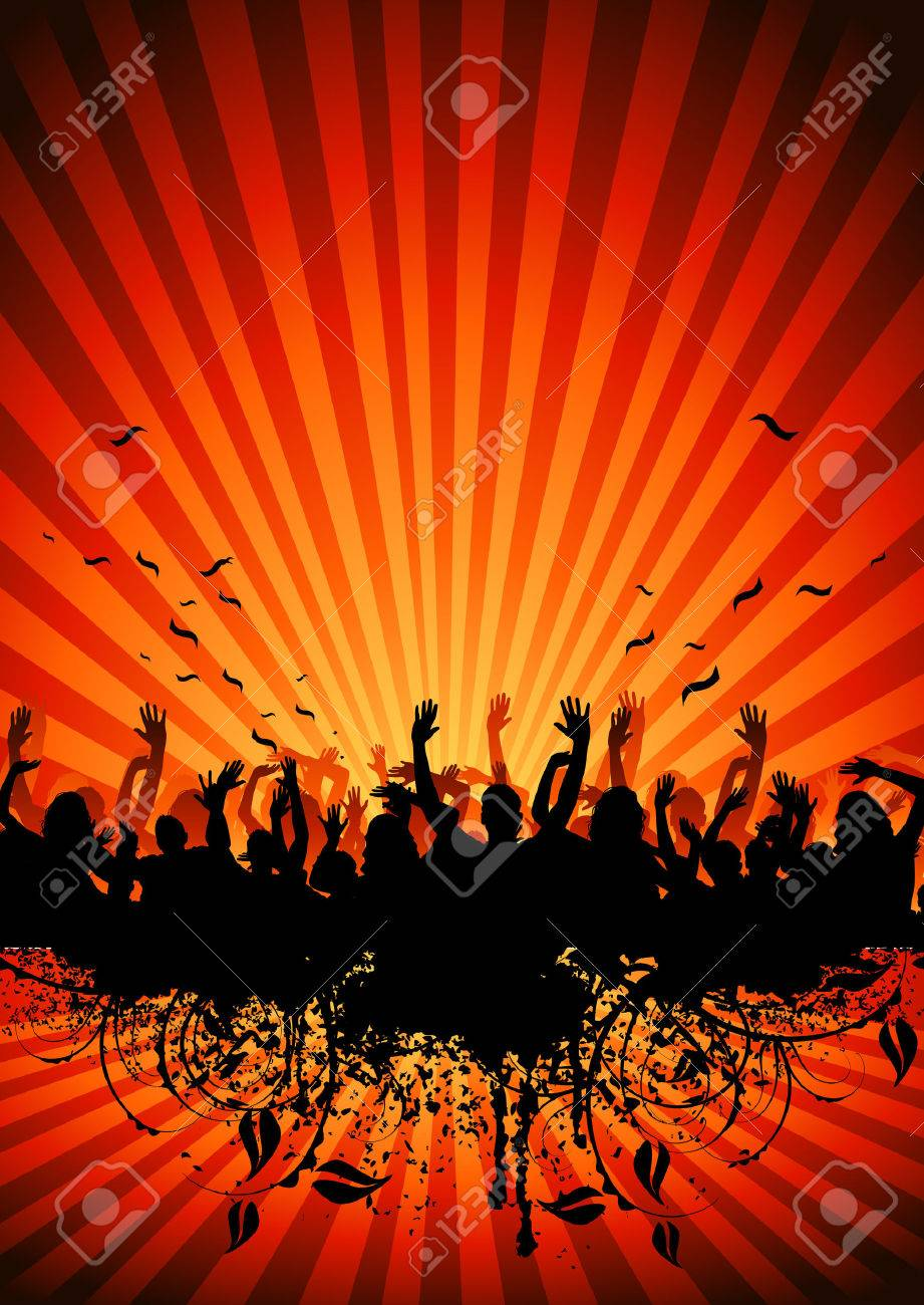 A crowd of people cheering Stock Photo - 1455460