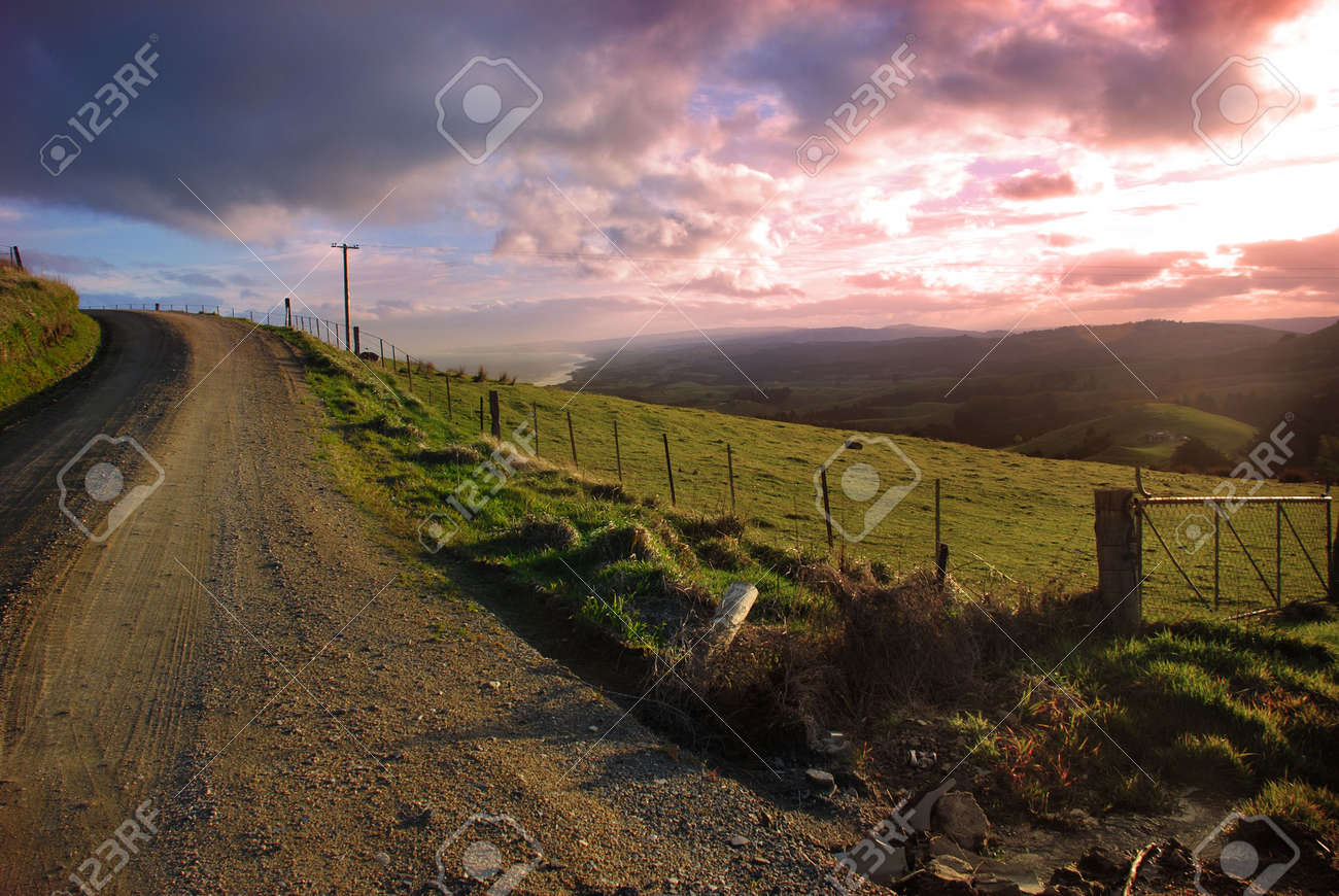 Evening Country View Stock Photo - 2059740