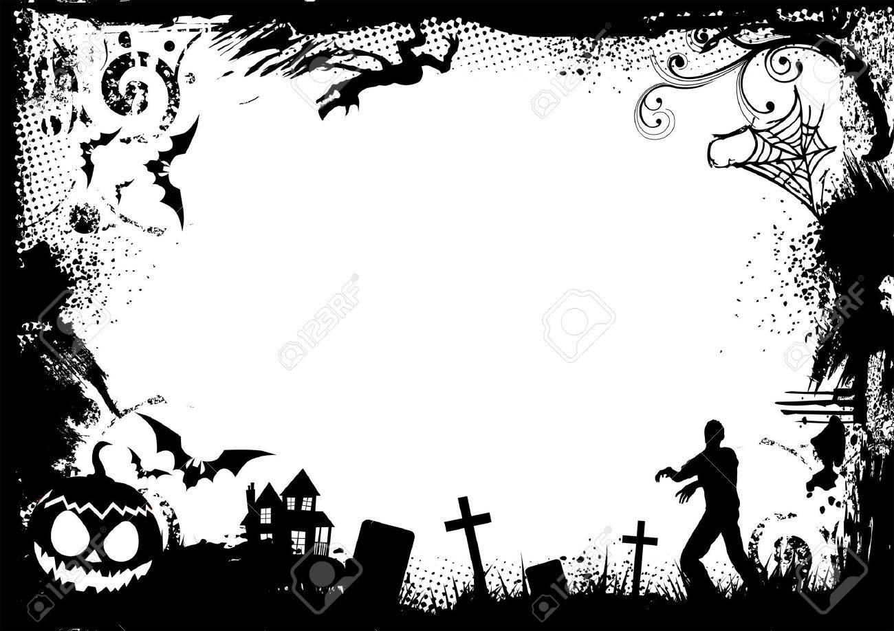 Halloween Vectors halloween silhouette vector download halloween vectors Illustration Grunge Horror Frame For Halloween Vector Illustration