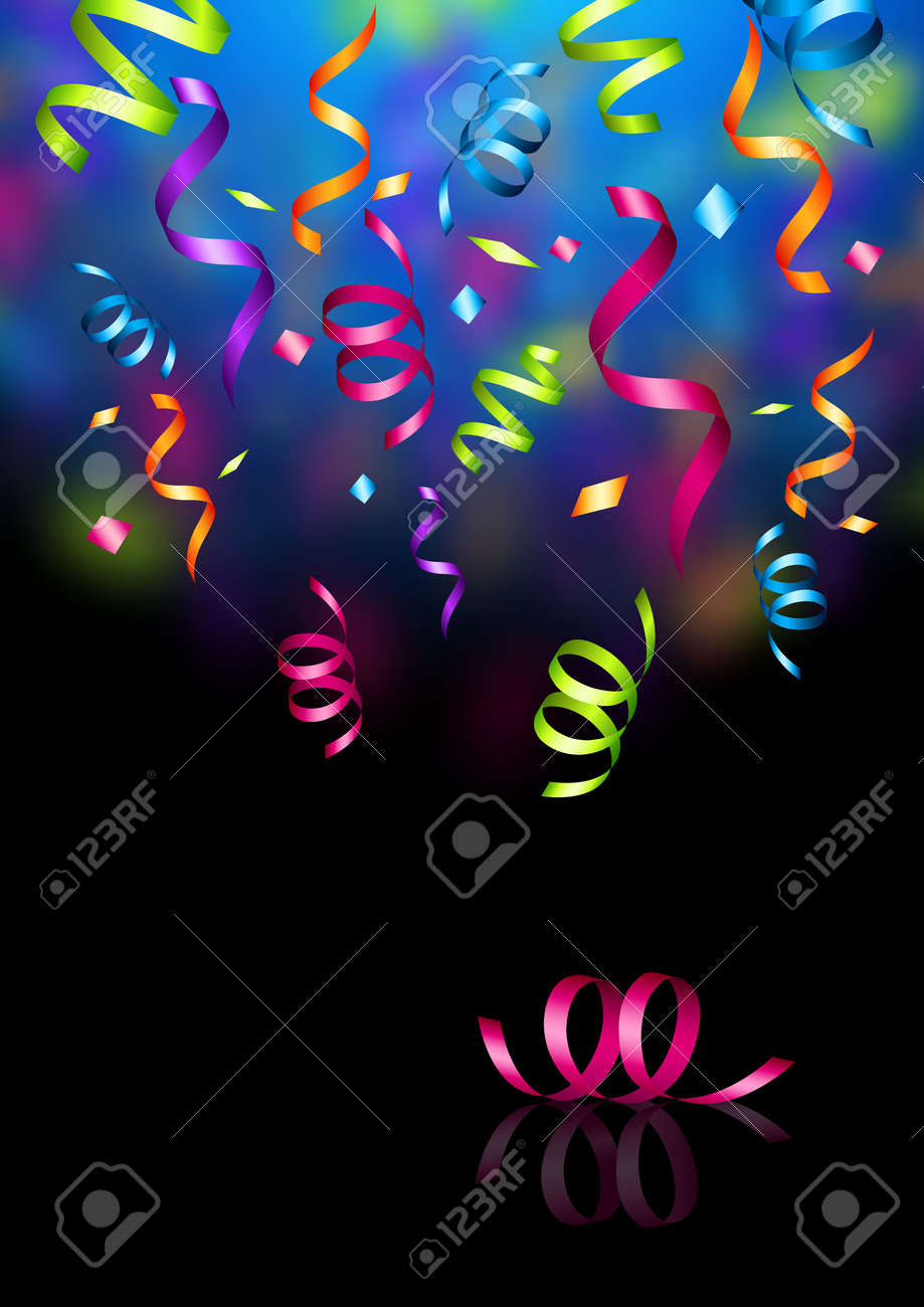 Celebrations! Streaming party confetti. Vector illustration. Stock Illustration - 5863835