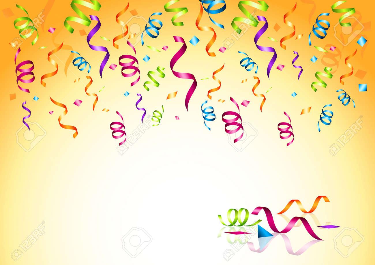 celebrations streaming party confetti vector illustration stock