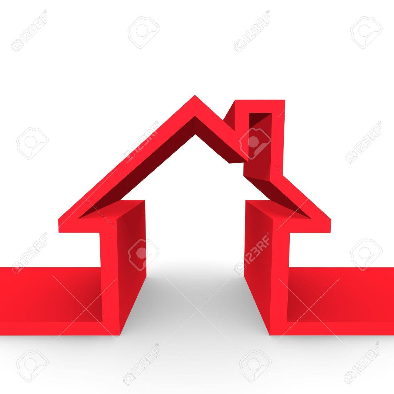 An outline of a family home. Stock Photo - 7032815