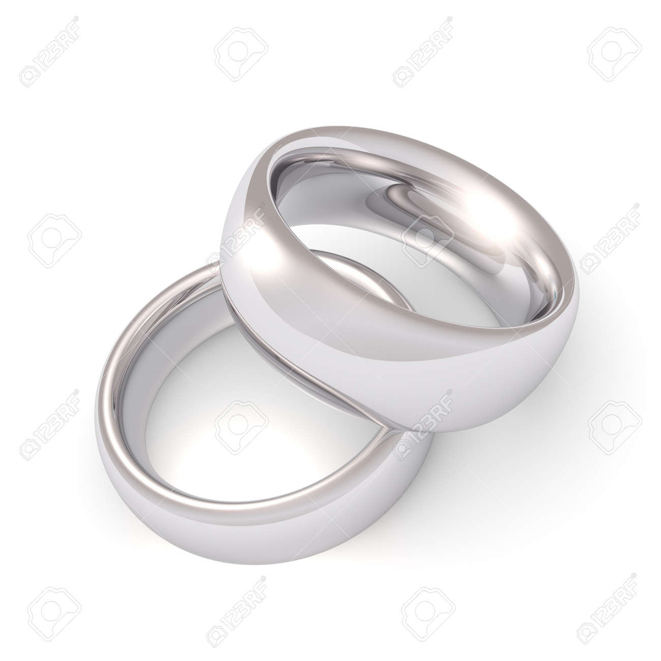 Platinum his and hers wedding rings wedding bands his - A His And Hers Set Of Platinum Wedding Bands Stock Photo 7032819