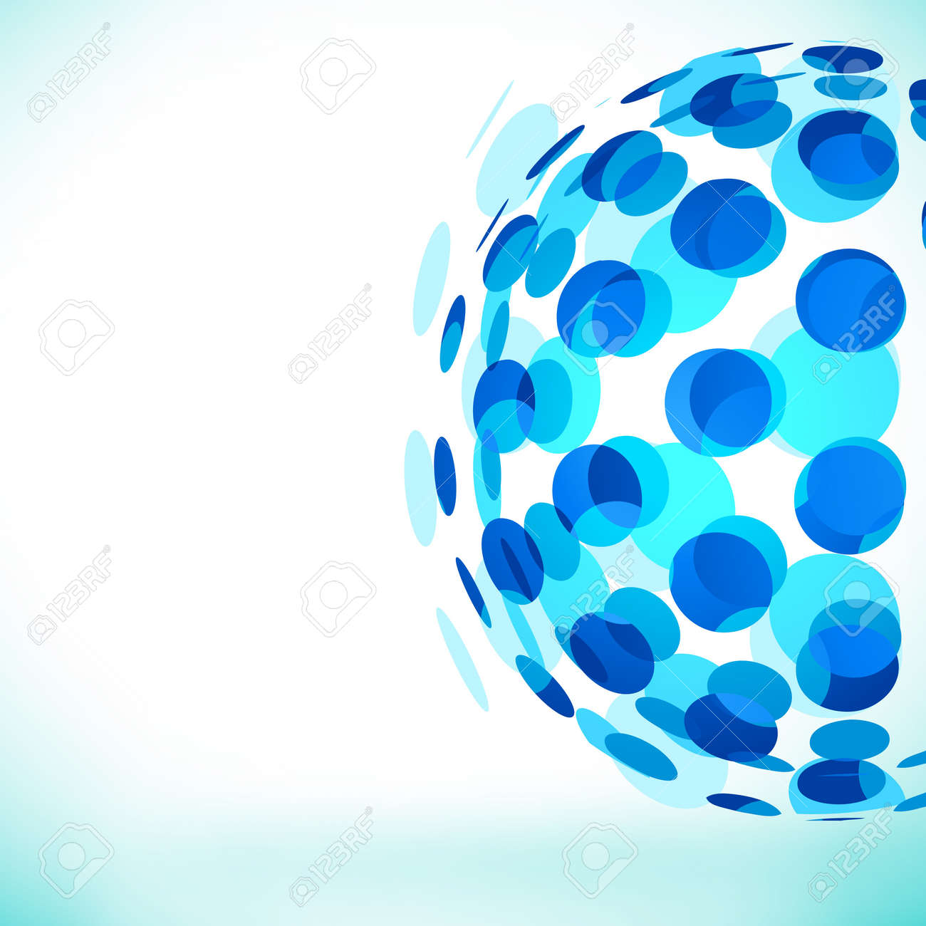 Abstract Bubble Sphere background. Stock Vector - 7883424