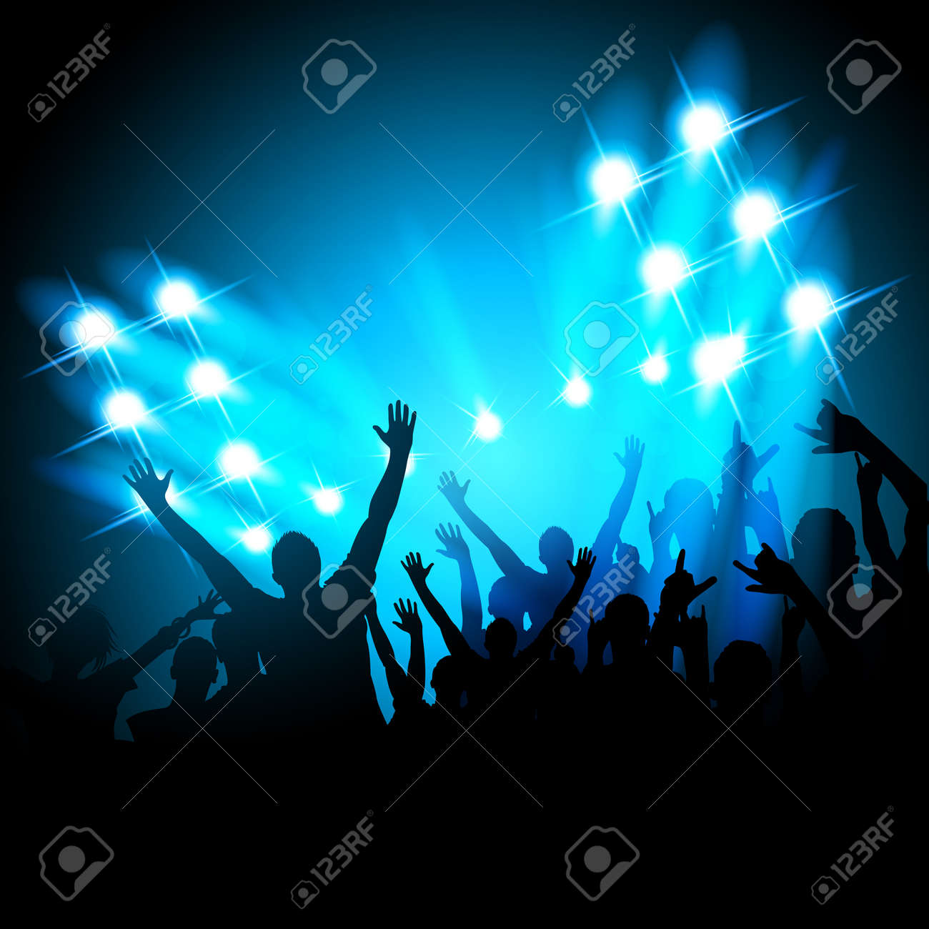 People at a Concert Stock Vector - 9721978