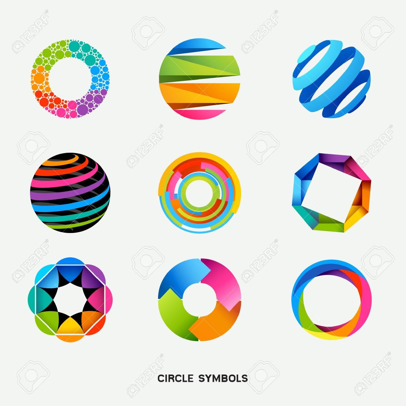 Circle Design Symbols Collection illustration Stock Vector - 13176015
