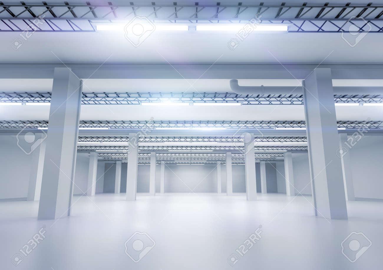 Un Entrepot Industriel Propre Avec Un Eclairage Banque D Images Et