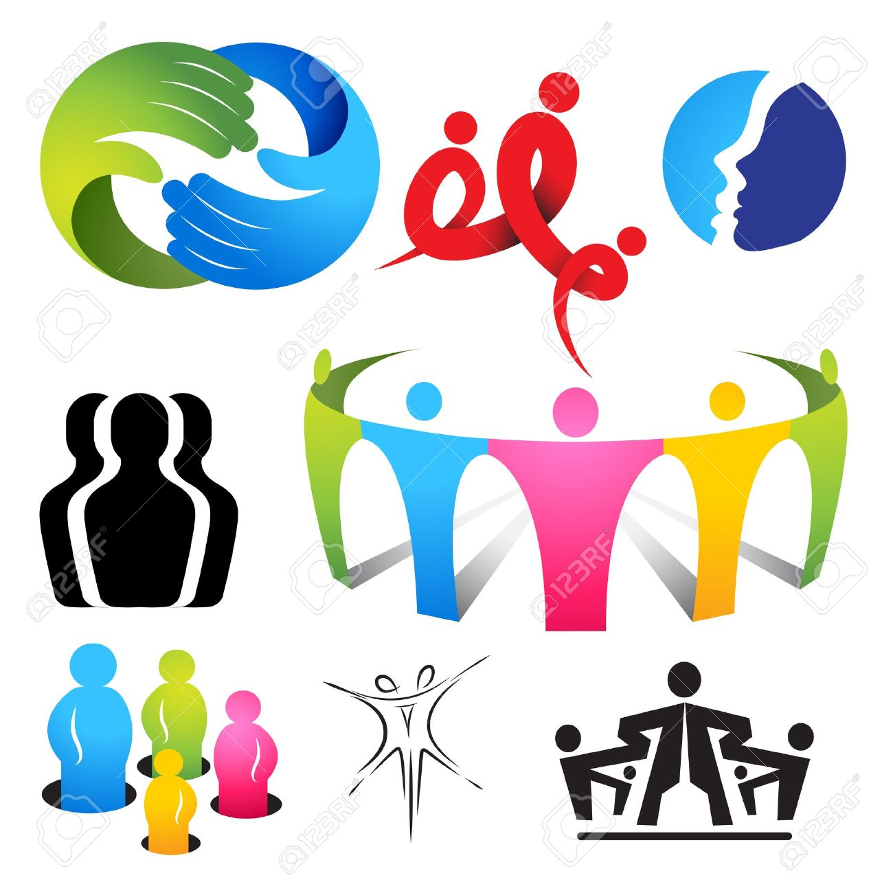A collection of connecting people icons and symbols Stock Vector - 14968601