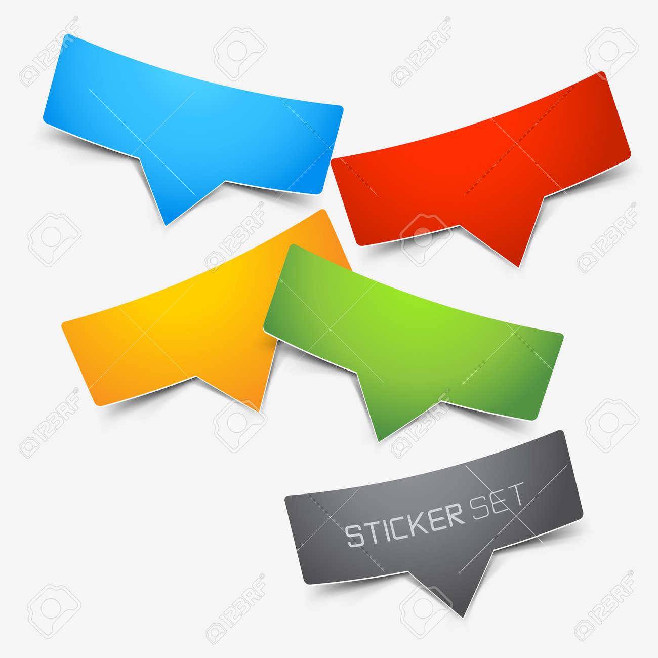 Colourful Sticker Set Stock Vector - 16462277