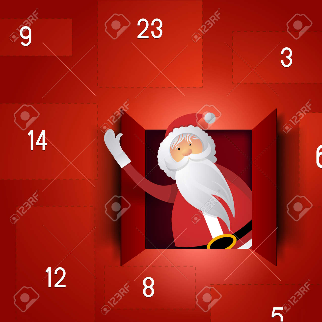 Santa Advent Calendar Stock Vector - 16462371