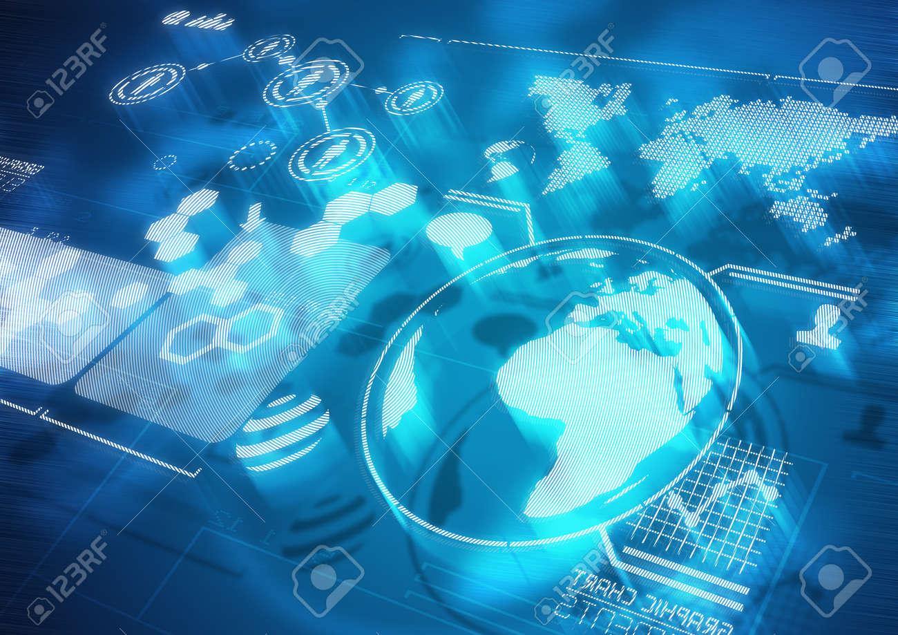 Global Communications - Modern Screen Diagrams Stock Photo - 16462384