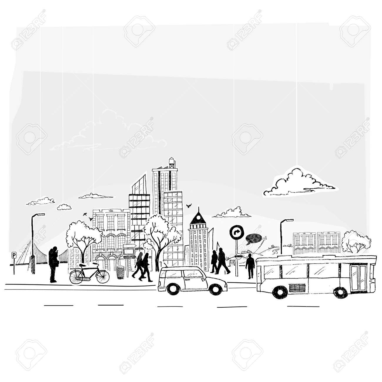 Paper City Stock Vector - 18261012