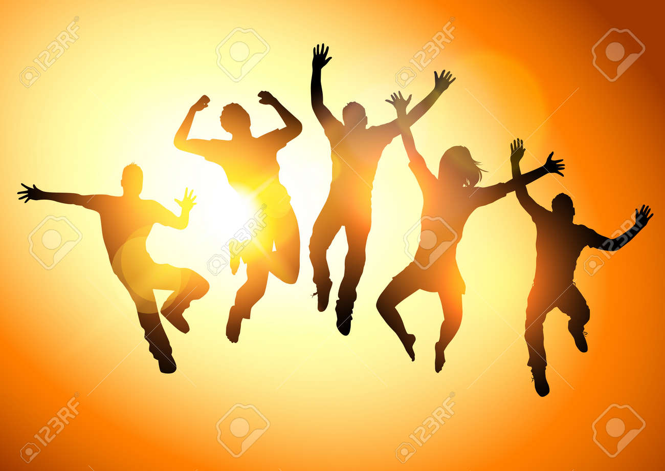 Jumping Into The Sun People jumping -illustration - 20501413