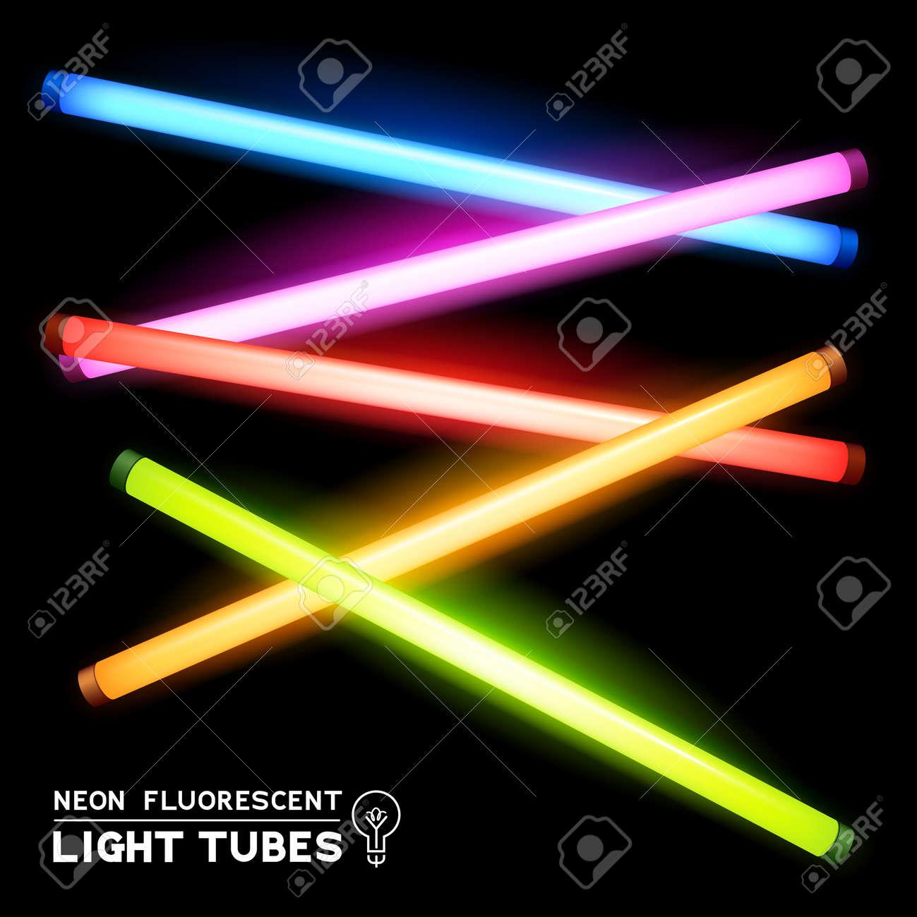 Neon fluorescent light tubes light strips royalty free cliparts neon fluorescent light tubes light strips stock vector 25636219 aloadofball Image collections