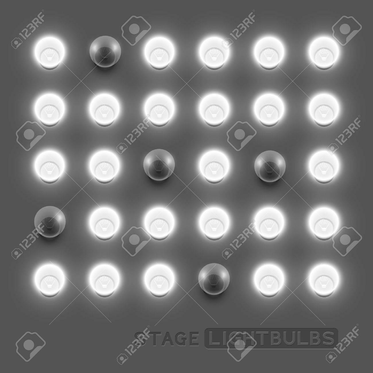stage light bulbs stock vector