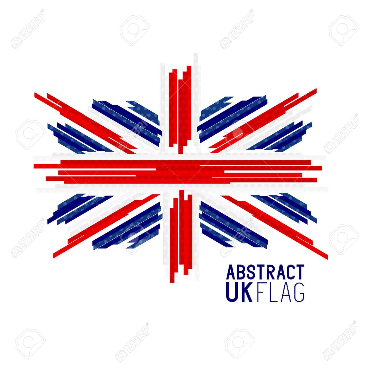 abstract uk union jack flag vector vector illustration royalty rh 123rf com union jack flag vector free union jack vector art