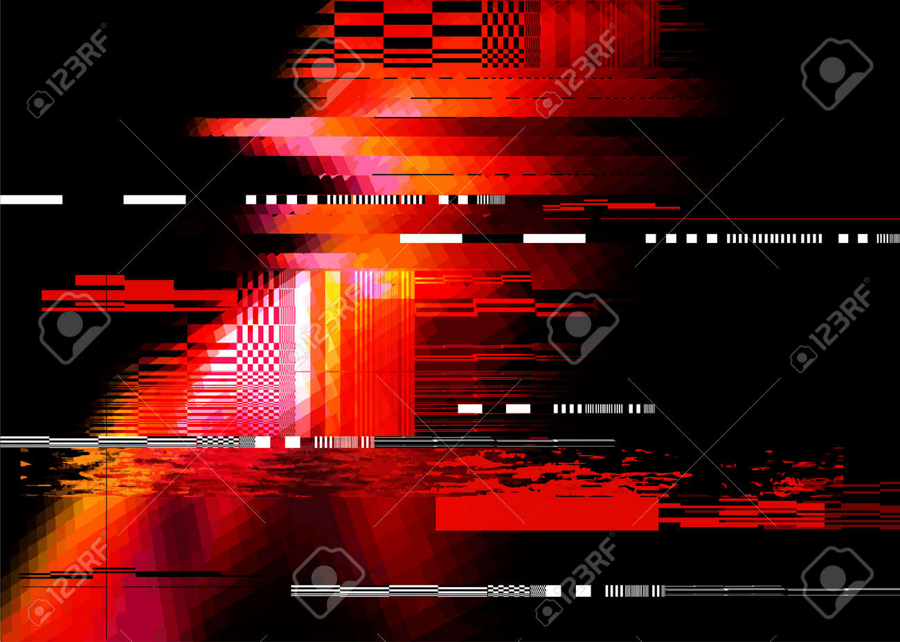 A redglitch noise distortion texture background. Vector illustration - 72483243