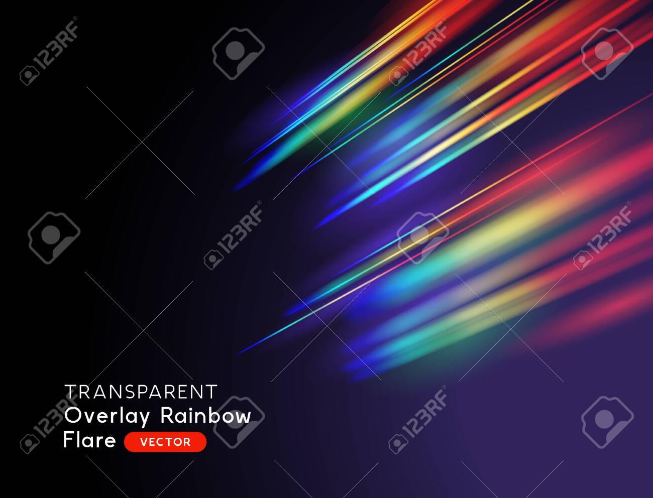 An optical lens rainbow flare effect. Vector illustration. - 139497431